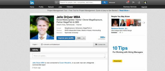 Spreker Trainer Jelle Drijver legt nieuwe Linkedin functie uit: Relationship