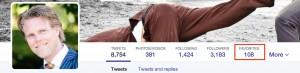 Favorites zichtbaar op Twitter Profiel