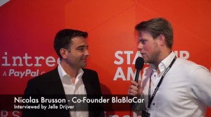 BlaBlaCar Founder Nicolas Brusson and Jelle Drijver Talking at The Next Web Conference 2015
