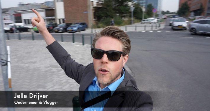 Jelle Drijver vlogger in de Binckhorst Den Haag
