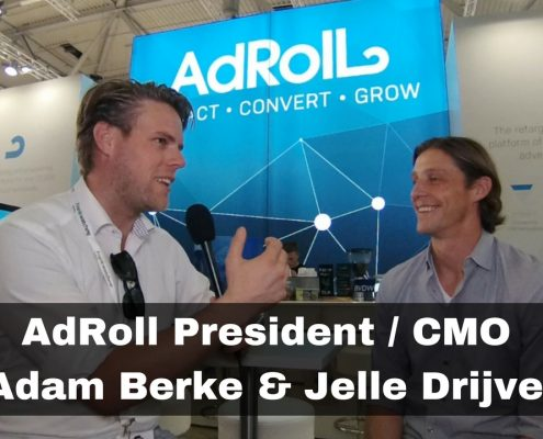AdRoll CMO Adam Berke and Jelle Drijver