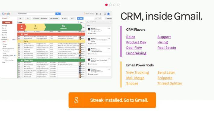 Streak een CRM systeem voor in je Gmail inbox
